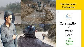 WBM ( water bound macadam) road construction procedure video