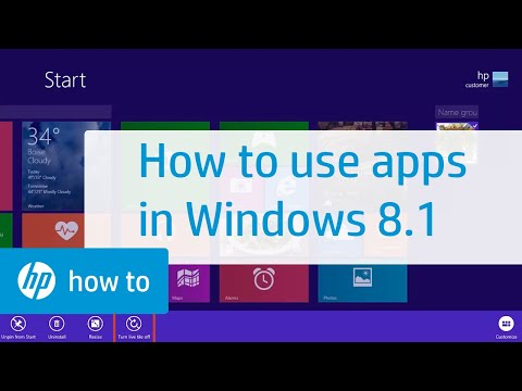 Using Apps in Windows 8.1 for HP Computers