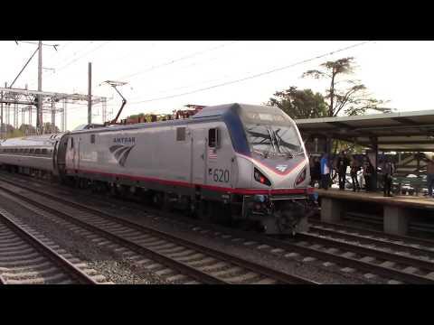 Amtrak trains at Princeton Junction station NJ