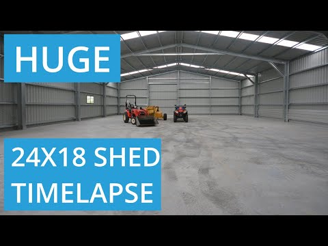 24m x 18m x 5m Commercial Shed Build on an Avocado Farm