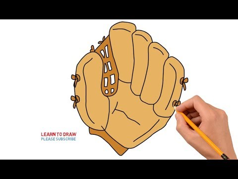 How To Draw a Baseball Glove Step by Step Easy