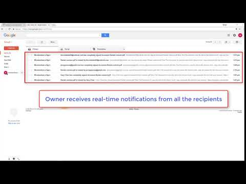 Bulk Send Owner Get Tracking Notification