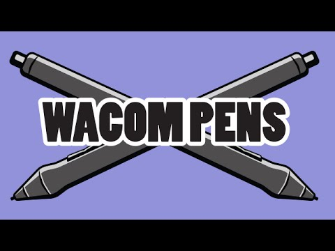 Wacom Pens (Pro Pen, Art Pen, Airbrush, Grip Pen & more)