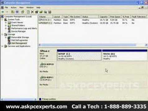 How to Dual Boot Windows XP and Windows Vista