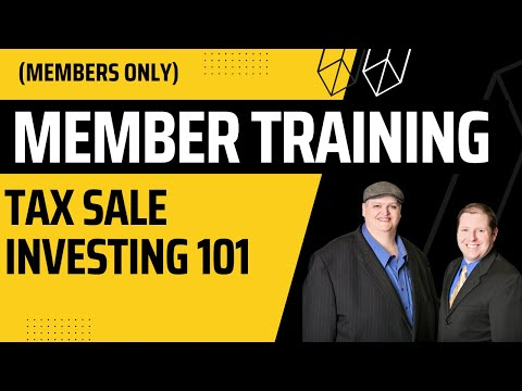 Tax Sale Foreclosure & Tax Lien Investing Workshop Tutorial Training