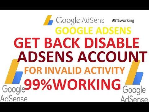 100% Get back Disable Adsense Account due to invalid activity [Hindi]2018