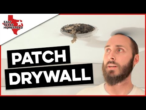 How to Patch Drywall the Easy Way | #EastTexasHomestead