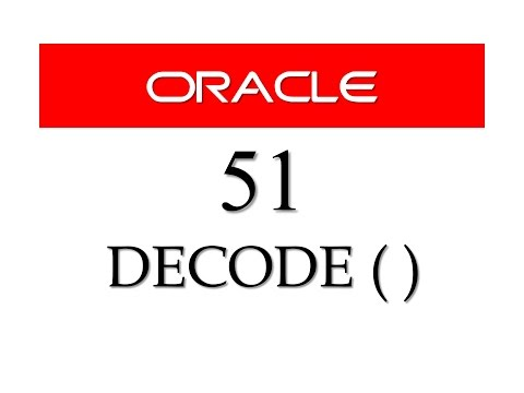 SQL tutorial 51: DECODE function in Oracle Database By Manish Sharma (RebellionRider)