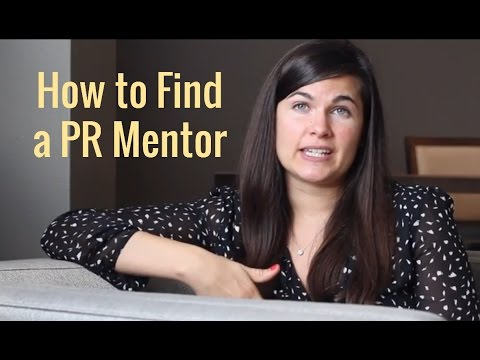 How to Find a PR Mentor