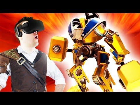 GIANT STEAMPUNK TITAN! - Brass Tactics Gameplay - Oculus Rift VR
