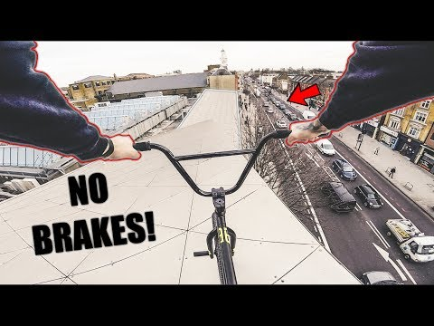 *POLICE ESCAPE* BMX ROOFTOP DROP IN!