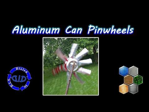 Make Pinwheels from aluminum cans