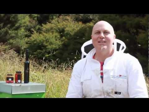 Sanctuary Honey - Paul tasting Sting the organic Honey Mead
