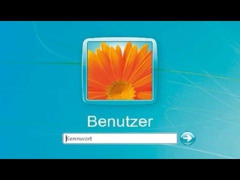 Vergessenes Windows XP, Vista, 7 Kennwort ändern (German / HD+)