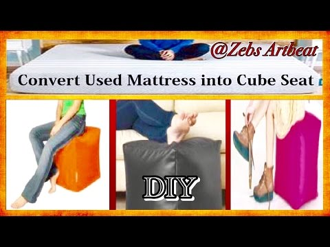 Cube Chair DIY ( Upcycle Used Mattress )
