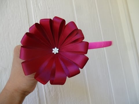 How to make ribbon flower in 5 minutes
