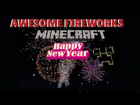 ✔ 5 AWESOME FIREWORK SHAPES With Tutorial! [Minecraft]
