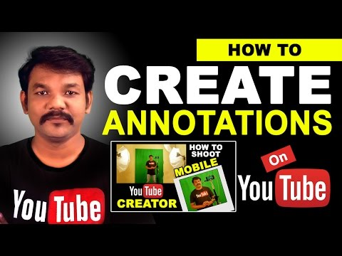 How To Create YouTube Video Annotations  in Tamil
