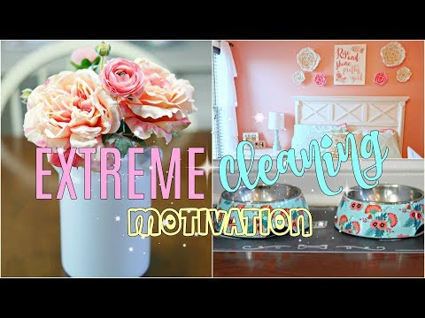 CLEANING MY WHOLE HOUSE| EXTREME Clean With Me- Motivation!