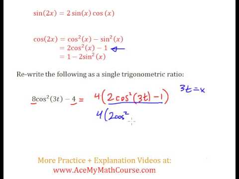 Double Angle Identities (Trigonometry) - Question #7