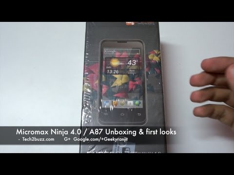 Micromax Ninja 4.0 A87 Unboxing & first looks