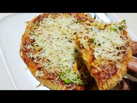 Homemade atta pizza recipe||ઘઉંનો હેલ્ધી પિઝ્ઝા બનાવવાની રીત