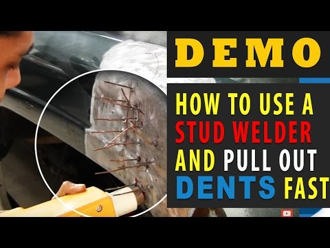 DEMO: How To Use a Stud Welder and Pull Out Dents FAST