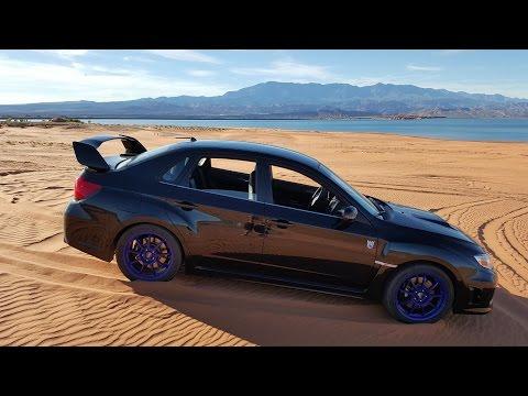 4K CC. Subaru AWD vs Sand Dunes On Street Tires With Stage 3 WRX STI.