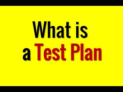 What is a test plan? - in 1 minute.
