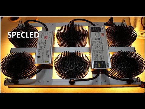 Сборка светодиодной фитолампы для гроубокса  COB Cree CXB3590, Citizen, LED Osram
