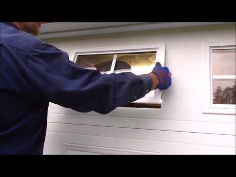 How to change a garage door window