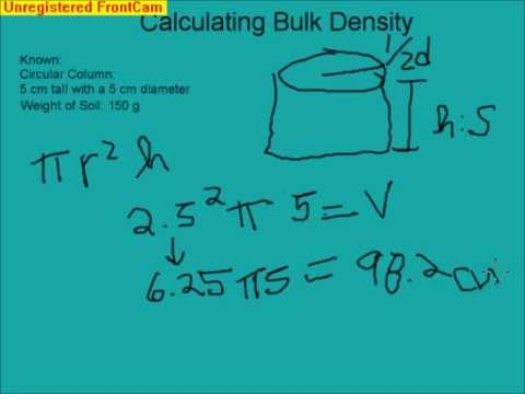 Calculating Soil Bulk Density