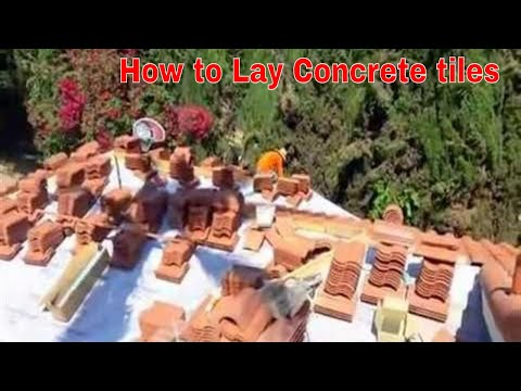How to lay concrete roofing tiles on a roof,  how to tile a roof explained !
