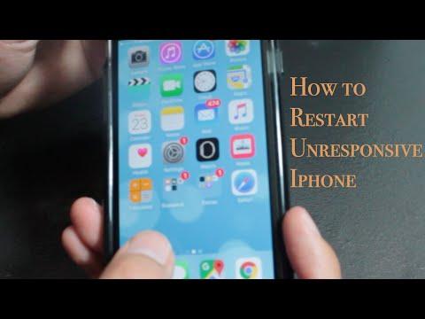 How to restart a frozen screen iPhone
