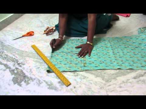 Nighty (Night dress) cutting procedure in telugu