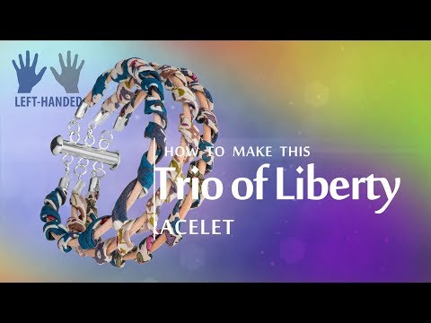 Left-handed ★ How to make this Trio Of Liberty bracelet | Liberty Of London