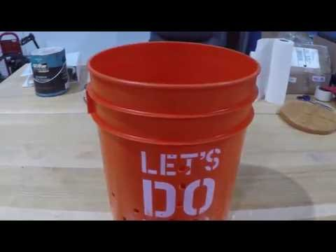 DIY budget cider press bucket part #3