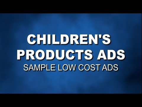 Make TV commercials for children's products and services