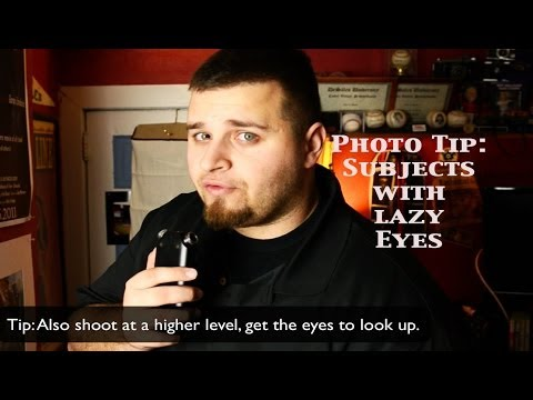 HOW TO PHOTOGRAPH PEOPLE WITH LAZY/WANDERING EYE:PHOTO TIP