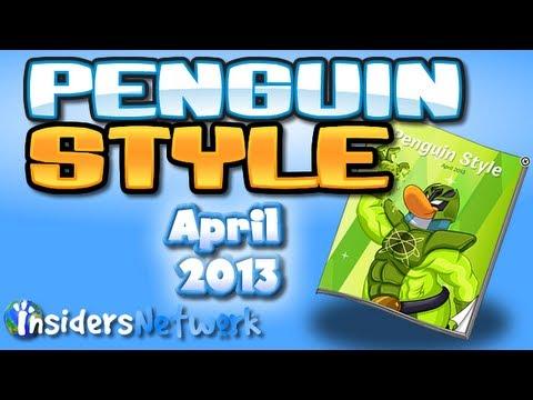 Club Penguin: April 2013 Clothing Catalog Cheats
