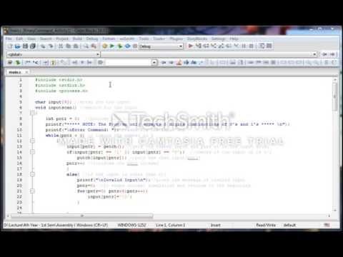 Assembly Laboratory Activity 1 - Creating An Interpreter like Program in C Language