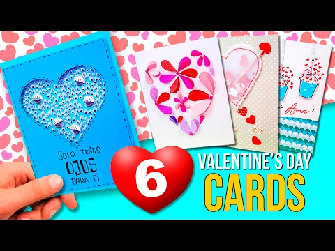 6 Super EASY VALENTINE'S DAY cards 💞  DIY Valentine's Day Gifts 💘