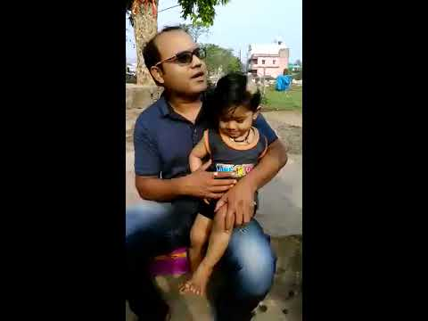 Without crying Indian infant baby today's hair cut