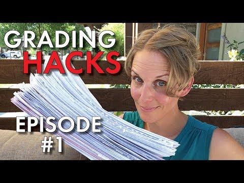 Grading Hacks #1 for Teachers, Manage & Grade Papers FASTER, Tips & Tricks, High School Teacher Vlog