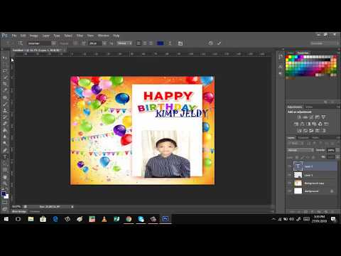 How to design Birthday Tarpaulin using Photoshop CS6