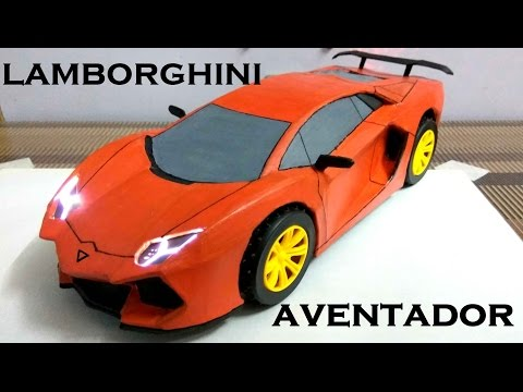 How To Make Electric Toy Car | LAMBORGHINI AVENTADOR |Using Cardboard