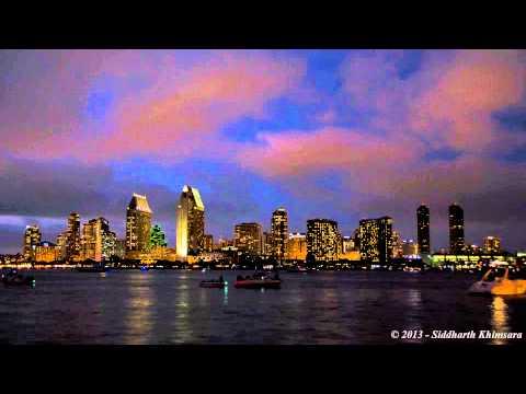 San Diego Downtown Timelapse from Coronado Ferry Landing