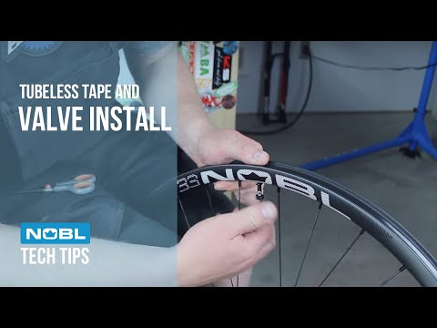 Tubeless tape and valve install.