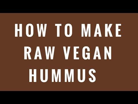 How To Make Raw Vegan Hummus