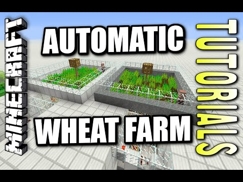 Minecraft PS4 - AUTOMATIC WHEAT FARM - How To - Tutorial ( PS3 / XBOX )